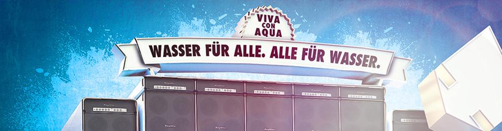 Neues Projekt: Viva con Agua LiveDrop Plakatdesign